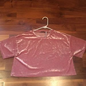 Urban Outfitters Crushed Velvet Cropped Top S-P